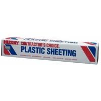 Poly America Husky Plastic Sheeting, Poly Film 20x100 FT, 10 Mil
